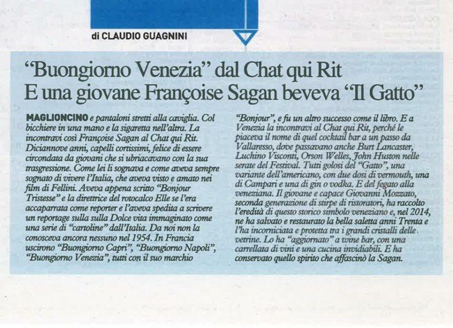 L'articolo dedicato al nostro prestigioso Bistrot Le Chat qui Rit su Il Giorno