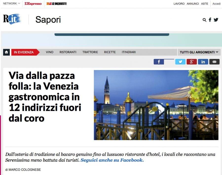 Repubblica Sapori cita lo Chat qui Rit