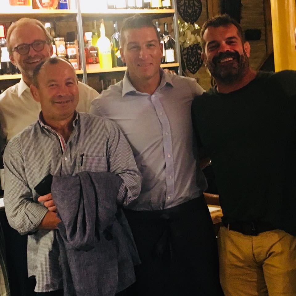 Eddy Jones e Fabio Ongaro