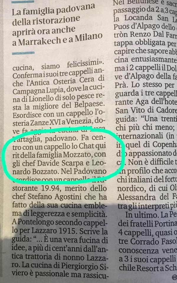 Il Mattino di Padova: Guide l'Espresso edizione 2019