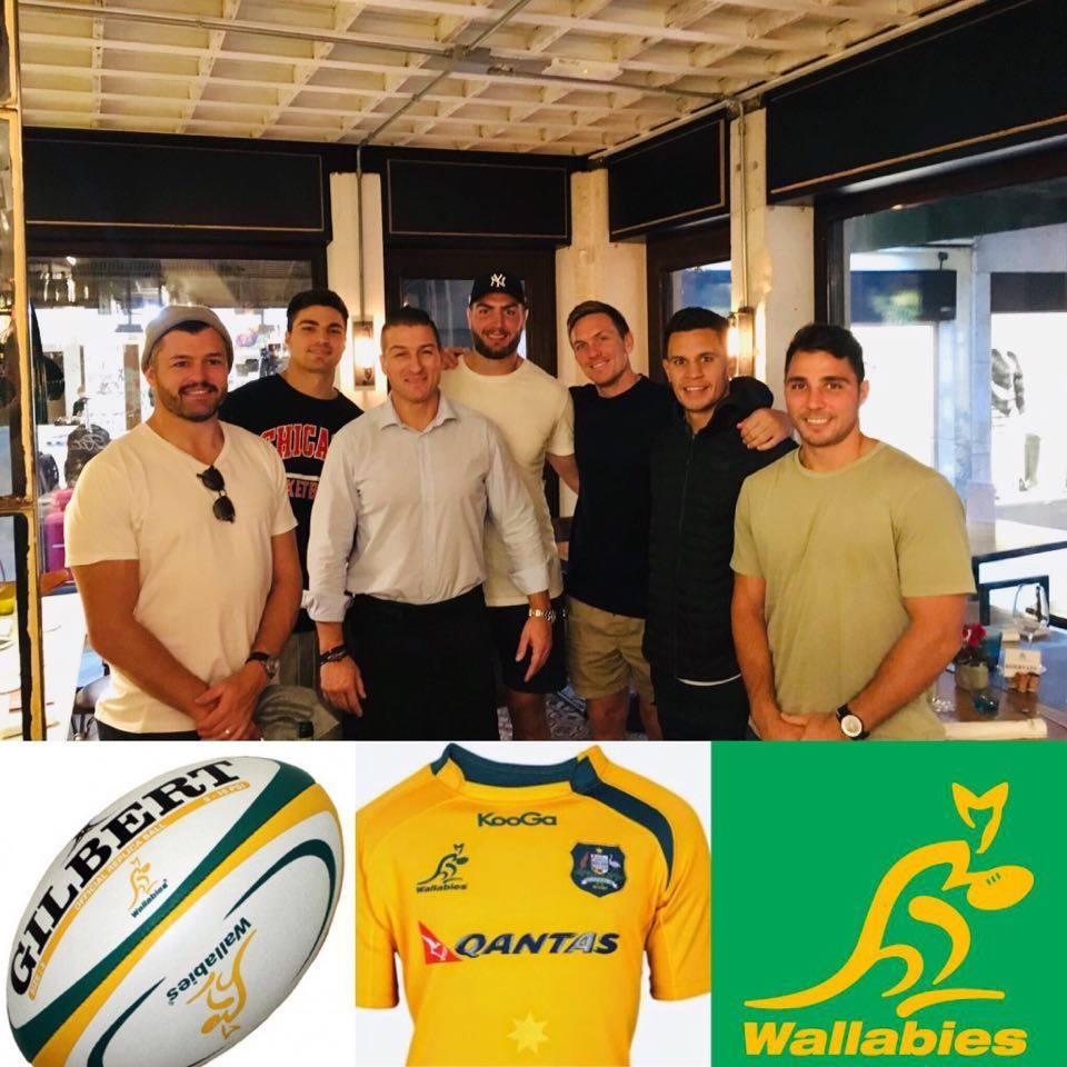 Ospiti alcuni giocatori della nazionale di Rugby Australiana Wallabies