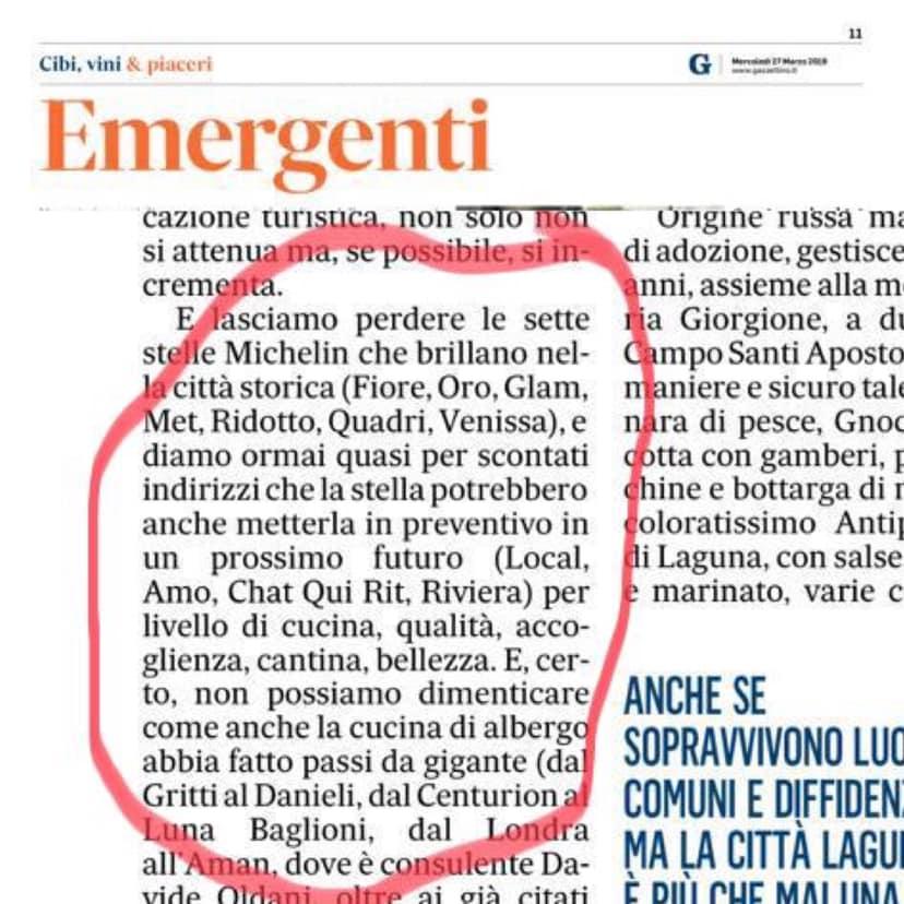 Il Gazzettino: locali emergenti a Venezia