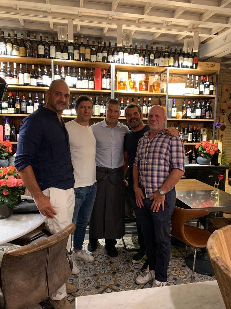 Marco Bortolami, Ezio Galon , Fabio Ongaro e Alessandro Troncon