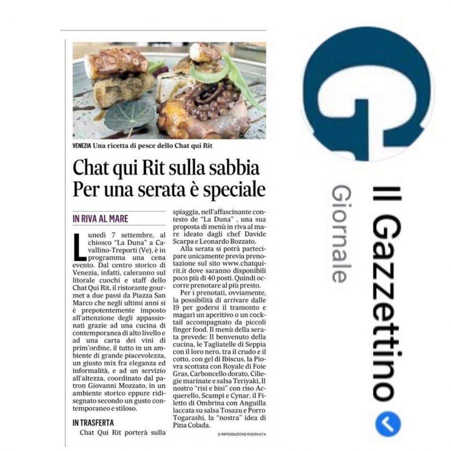 Il Gazzettino: Lo Chat qui Rit per una sera si trasferisce in riva al mare