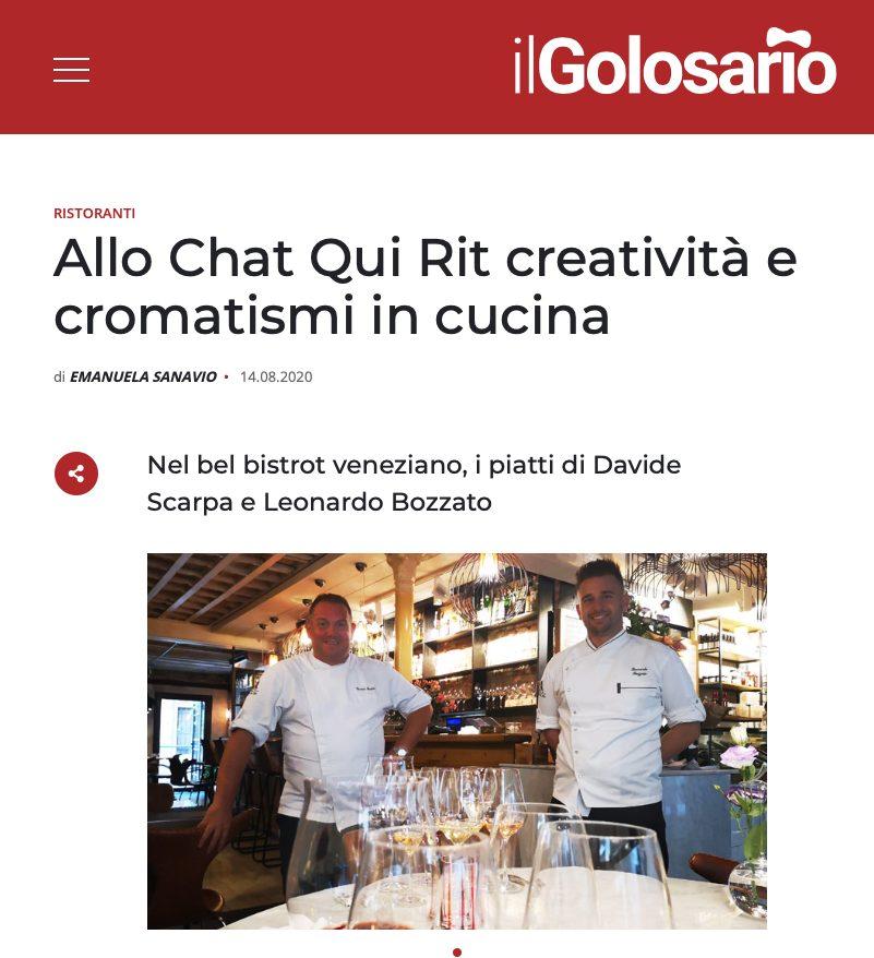 IlGolosario: allo Chat Qui Rit creatività e cromatismi in cucina
