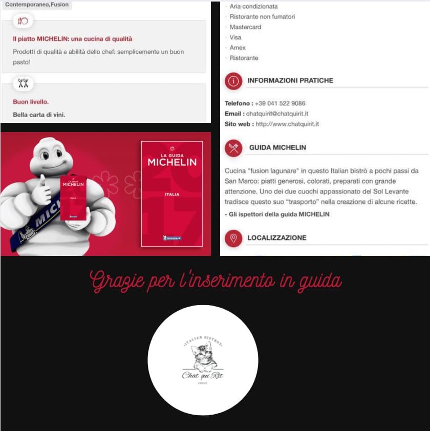 Michelin: l'inserimento in Guida fra i migliori ristoranti al mondo.
